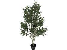 LARGE FAUX OLIVE TREE PLANT POT ARTIFICIAL FLOWER FAKE FLORAL INDOOR 120CM