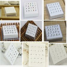 20PCS A Box Fashion Jewelry Silver Body Piercing Jewellery Nose Nail Nose Ring