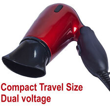 Travel Compact Small HairDryer 1200W With 2 Heat / Speed Settings Multi Voltage