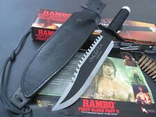 TOP RAMBO FIRST BLOOD PART II Licensed MANUAL SIGN SURVIVAL CAMP HUNTING KNIFE