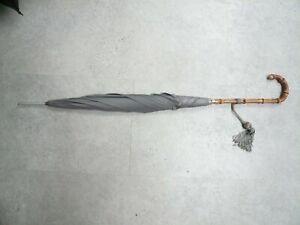 Vintage Paragon Fox Whangee Grey Ladies Umbrella