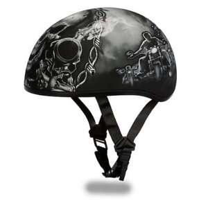 Brand New Daytona Helmets Skull Cap- W/ GUNS Vespa DOT Motorcycle Helmet