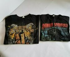 TWO Avenged Sevenfold Rock Band Black Shirts - Size L