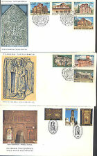 GREECE 1972 CHURCHES AND MONASTERIES, 1981 BELLES AND TEMPLE, 3 FDCS, 10 STAMPS
