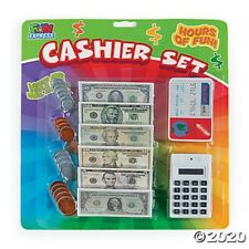 Cashier Game Set Pretend Play Money Coins Calculator Cashier Toy Games Kids