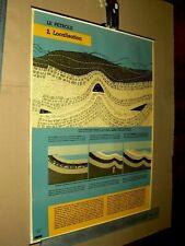 Affiche Ancienne Pétrole ESSO Oil Huile Localisation  Poster Années 50 / 60