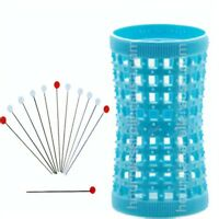 Blue Tension Natural Hair Rollers 37mm/1.46in – Pack of 12 + 12 Pins.