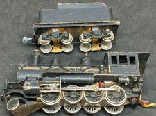 VINTAGE JAPAN BRASS 2-8-0 Steam Locomotive & Tender. FOR REPAIR