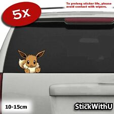 5x Pokemon Eevee Sticker Pack JDM Decal Car Window Vinyl Cute Peeping pg105