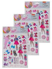 Officially Licensed JoJo Siwa Raised Sticker Sheet (22-Ct) 3-Sheet Set