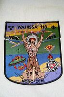 OA WAHISSA 118 OLD HICKORY COUNCIL 2-PATCH PEACE PIPE 100TH ANN 2015 NOAC FLAP