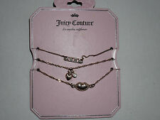 Juicy Couture Rose Gold Tone 3 Strand Bracelet NEW