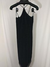 Cache vintage made in USA sexy Beaded Black Cocktail Dress 20s style flapper