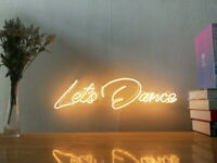 New Let's Dance Neon Sign For Bedroom Wall Home Decor Artwork With Dimmer