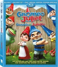 GNOMEO & JULIET Blu-ray + Blu-ray 3D + DVD Bilingual English French Packaging