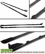 Carbon Fiber Side Skirts Add On Spoiler Lip fit 2015+ WRX STI SUBARU