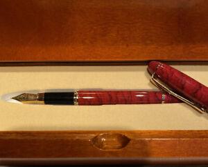 Elegant Montefiore Fountain Pen In Wooden Gift Box