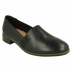 TRISH DIVA LADIES CLARKS LEATHER LIGHTWEIGHT CASUAL WORK SLIP ON SHOES LOAFERS