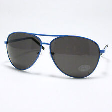 CLASSIC Pilot Sunglasses SPRING HINGE Metal Frame MEN WOMEN BLUE