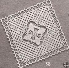 Vintage Crochet PATTERN to make Bedspread Motif Block Elegant Star LatticeWindow