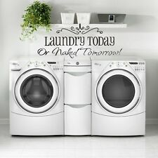 Wall Decor Art Vinyl DIY Removable Washhouse Decal Sticker Laundry Today