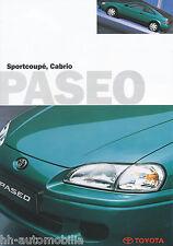 Toyota Paseo Sportcoupé Prospekt 2 96 brochure 1996 Auto PKWs Japan Autoprospekt