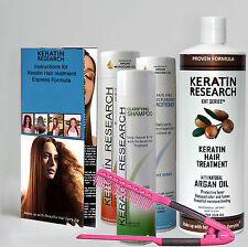 Brazilian Keratin hair complex treatment straightening XLarge kit Free Easy comb