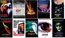 Retro Horror Movie Posters Cujo The Fog Candyman ExorcistSalem's Lot Prophecy