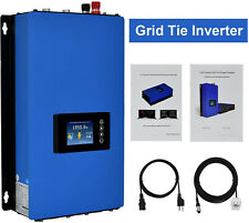 1000W Grid Tie Inverter Stackable with Power Limiter DC26-60V,AC110V/220V Auto