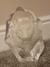 Mats Jonasson Sweden Lead Crystal Sculpture Paperweight Bengal Tiger