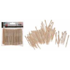 100x Bamboo Cocktail Forks Skewers Sticks For BBQ Fruit Wooden Sticks Olives UK