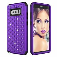 BLING HARD SOFT RUBBER IMPACT ARMOR CASE HYBRID COVER For SAMSUNG GALAXY Note 8