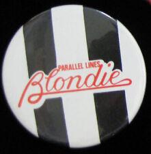 Blondie Parallel Lines _Rare Vtg Lapel Pin Badge Pinback for hat/jacket/shirt