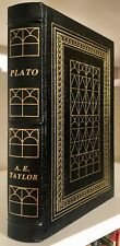Easton Press PLATO THE MAN AND HIS WORK By A.E. Taylor Library Of Great Lives