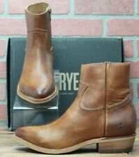 *Frye Billy Inside Zip Bootie 70808 Caramel Leather Casual Dress Boots Sz 9.5 M