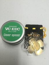 VC EDC BRASS CLOVER SPINNER IN STOCK SHIPS FROM KY (clearance sale)