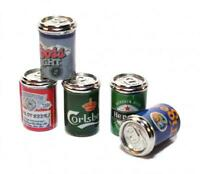 Dolls House 5 Beer Cans Ale Tins Miniature 1:12 Metal Pub Drinks Shop Accessory