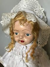 "25-26"" Vintage Antique COMPOSITION Doll ~ American Doll Company Blonde"