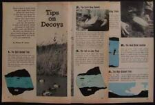 How-To Use Duck Decoys Hunting 1962 TIPS Tricks INFO