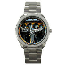 Muscle Car 1970 Ford Mustang Boss 429 Steering Wheel Style Sport Metal Watch