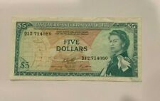 East Caribbean $5 Dollar Sig.10 QEII  Note  Prefix D12