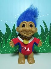 """USA OLYMPIC GIRL - 5"""" Russ Troll Doll - NEW IN ORIGINAL WRAPPER -With flawed eye"""