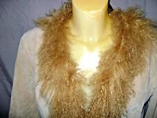 Brandon Thomas  Suede Leather & Mongolian Fur Collar Coat Sz.L