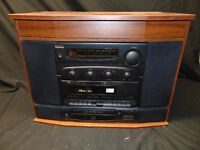 Technosonic Golden Era retro Stereo Cabinet M-980 CD LP Cassette AM-FM radio
