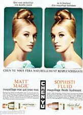 PUBLICITE ADVERTISING 026  1964  Chen-Yu maquillage fond de teint Sophisti Matt