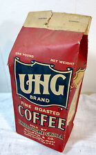 UHG Coffee Bag United Home Grocer Hulman Terre Haute, Indiana Ad Antique VTG
