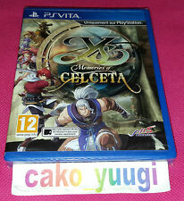 YS MEMORIES OF CELCETA PS VITA SONY PLAYSTATION VITA NEUF SOUS BLISTER ABIME NEW