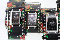 Wholesale Lot of 3 Ed Hardy TT-BLK Love Kills Slowly Watches Need Batteries