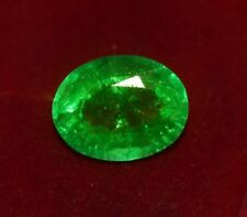 14.93x11.85mm (8.75cts) OVAL-FACET CERTIFIED NATURAL (GGL) COLOMBIAN EMERALD GEM