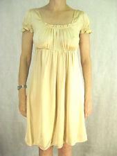 Little Joe Size XS Cream 100% Silk Dress